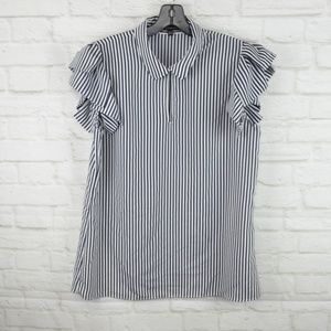 $10 Deal! Banana Republic - short sleeve navy/whit